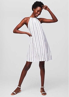 LOFT Beach Striped Halter Swing Dress