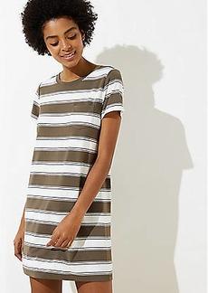 LOFT Beach Striped Pocket Tee Dress