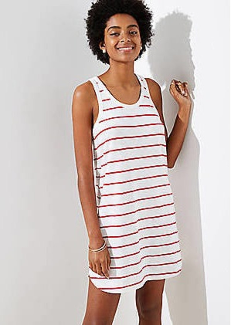 596fd2e1455d8 LOFT LOFT Beach Striped Racerback Dress