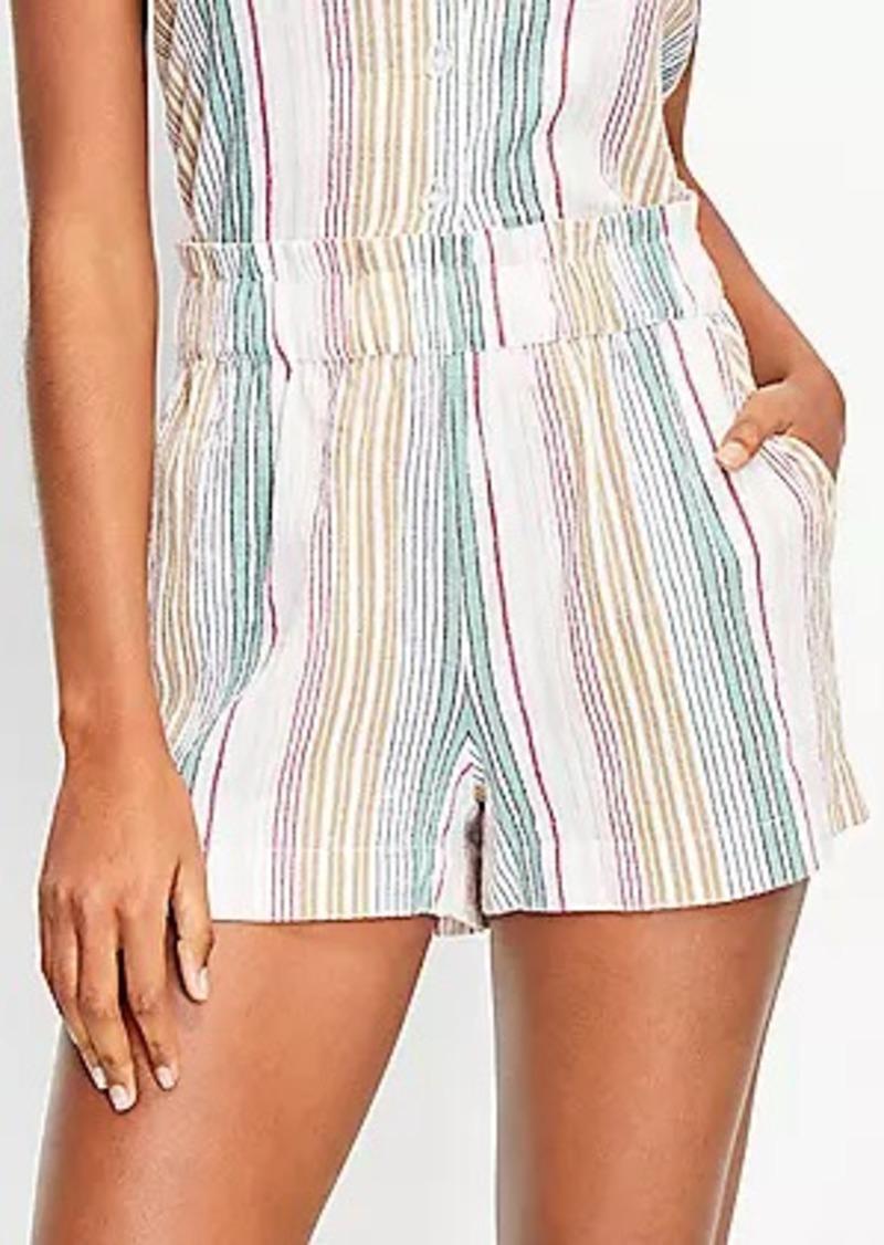 LOFT Beach Striped Shorts