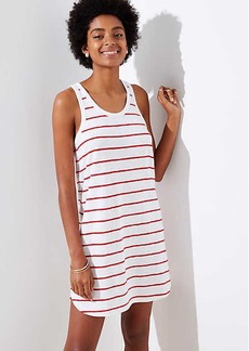 LOFT Beach Striped Racerback Dress