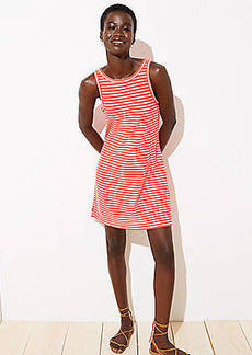 LOFT Beach Striped Tank Dress