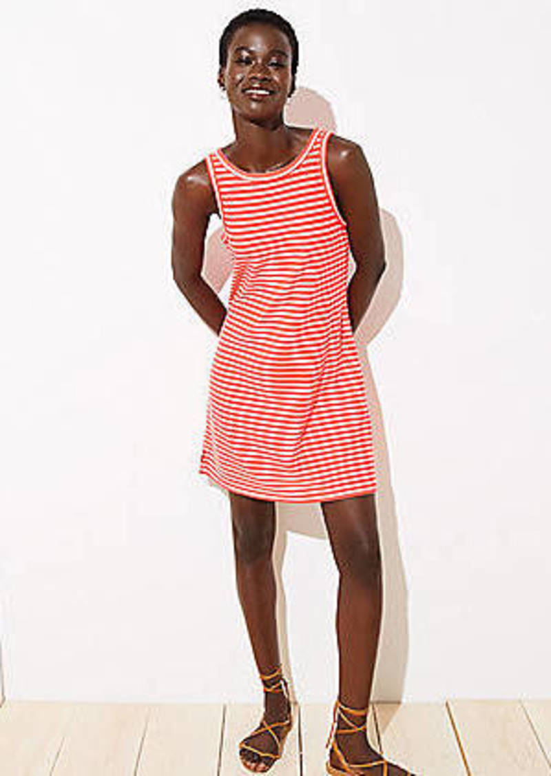LOFT Beach Striped Tank Dress