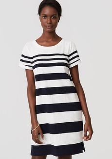 LOFT Beach Striped Tee Dress