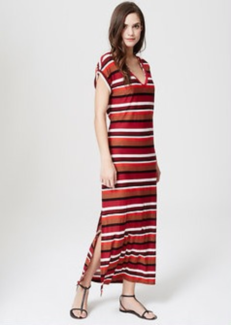 LOFT Beach Striped Tee Maxi Dress