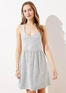 LOFT Beach Striped Terry Dress