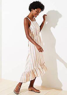 LOFT Beach Striped Tie Back Midi Dress