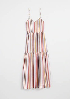 LOFT Beach Striped Tie Front Maxi Dress