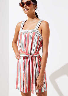 LOFT Beach Striped Tie Waist Dress