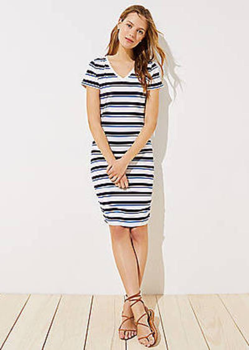 9a06c9f932892 On Sale today! LOFT LOFT Beach Striped V-Neck Dress