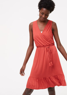 LOFT Beach Tasseled Tie Back Dress