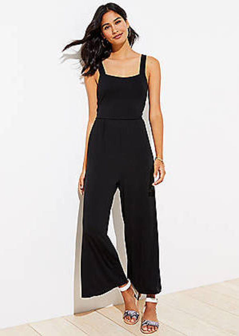 LOFT Beach Tie Back Jumpsuit