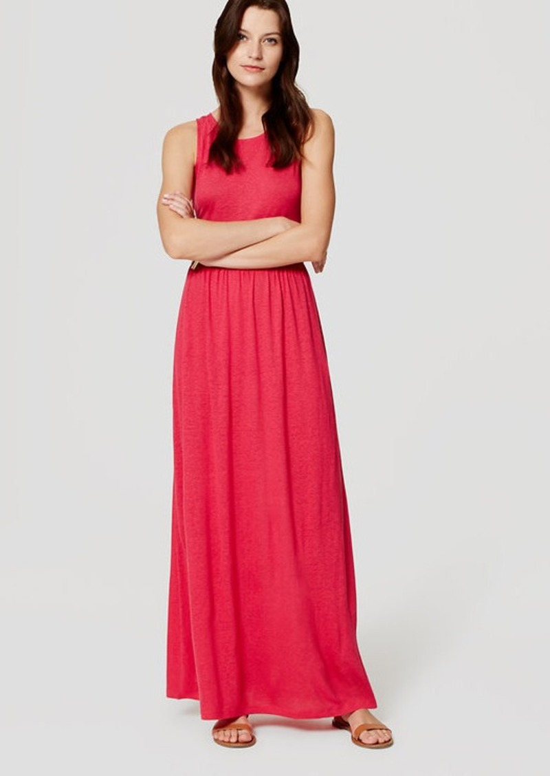 LOFT Beach Tie Back Maxi Dress
