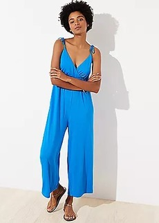 LOFT Beach Tie Shoulder Jumpsuit