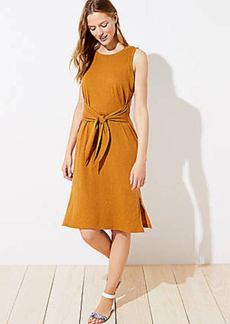 LOFT Beach Tie Waist Dress