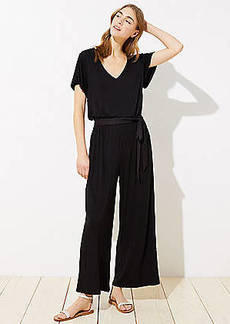 LOFT Beach Tie Waist Wide Leg Jumpsuit