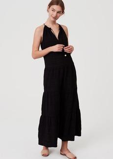 LOFT Beach Tiered Halter Maxi Dress