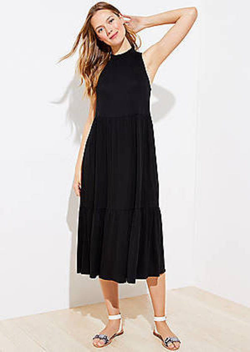 LOFT Beach Tiered Midi Dress