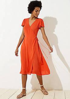 LOFT Beach Wrap Dress