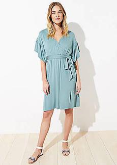 LOFT Beach Wrap Midi Dress