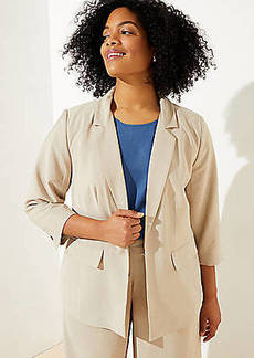 LOFT Plus 3/4 Sleeve Open Blazer