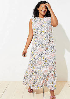 LOFT Plus Blossom Ruffle Maxi Dress