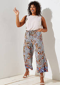 LOFT Plus Boho Mosaic Fluid Drawstring Pants
