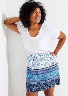 LOFT Plus Border Floral Pocket Drawstring Skirt