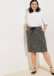 LOFT Plus Boucle Pocket Drawstring Skirt