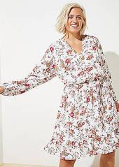 LOFT Plus Floral Ruffle Hem Dress