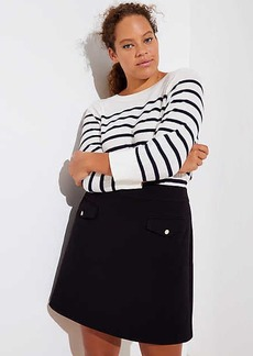 LOFT Plus Button Pocket Shift Skirt