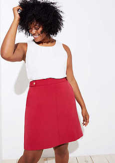 LOFT Plus Button Tab Boot Skirt
