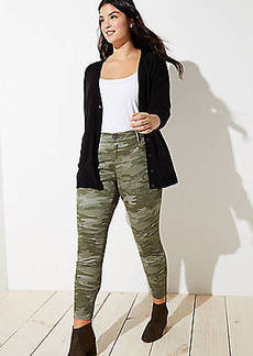 LOFT Plus Camo Skinny Pants