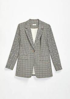 LOFT Plus Checked Long Modern Blazer