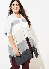 LOFT Plus Colorblock Open Poncho Sweater