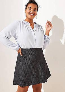 LOFT Plus Diamond Pull On Flippy Skirt