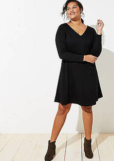 LOFT Plus Doubleface Flare Dress