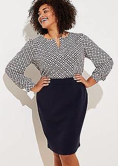 LOFT Plus Doubleface Pencil Skirt
