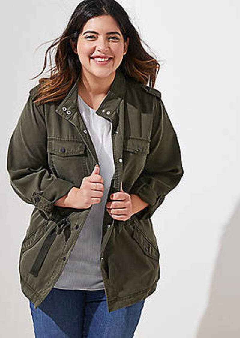 LOFT Plus Drawstring Utility Jacket