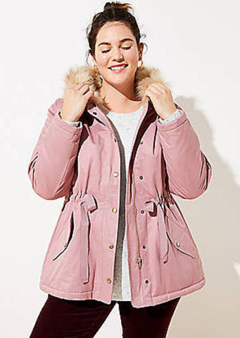 LOFT Plus Faux Fur Lined Hooded Parka