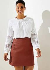 LOFT Plus Faux Leather Pocket Skirt
