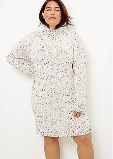LOFT Plus Flecked Turtleneck Sweater Dress