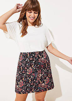 LOFT Plus Floral Jacquard Shift Skirt