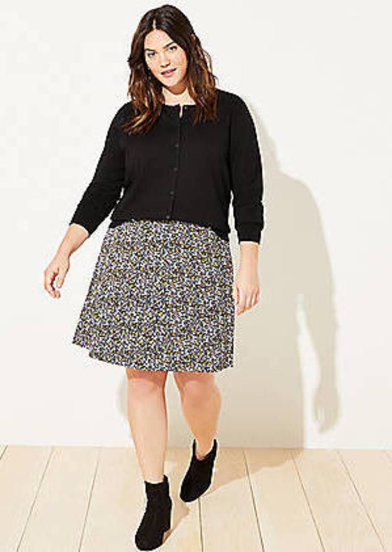 LOFT Plus Floral Ponte Flippy Skirt