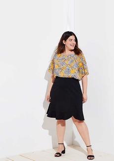 LOFT Plus Flounce Pull On Skirt