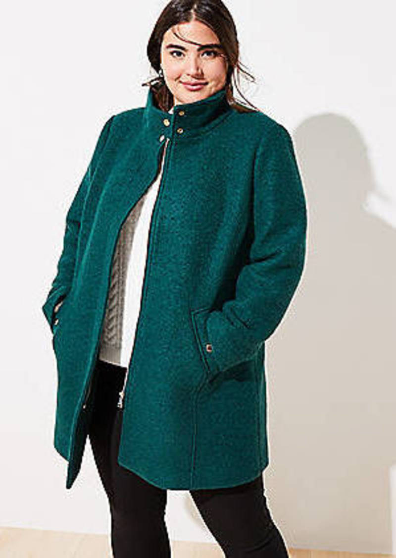 LOFT Plus Funnel Neck Coat
