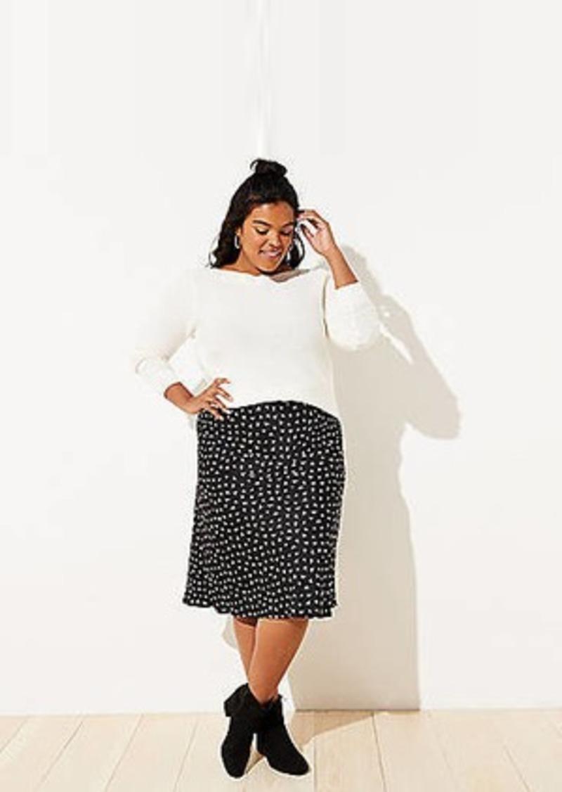 LOFT Plus Heart Pull On Midi Skirt