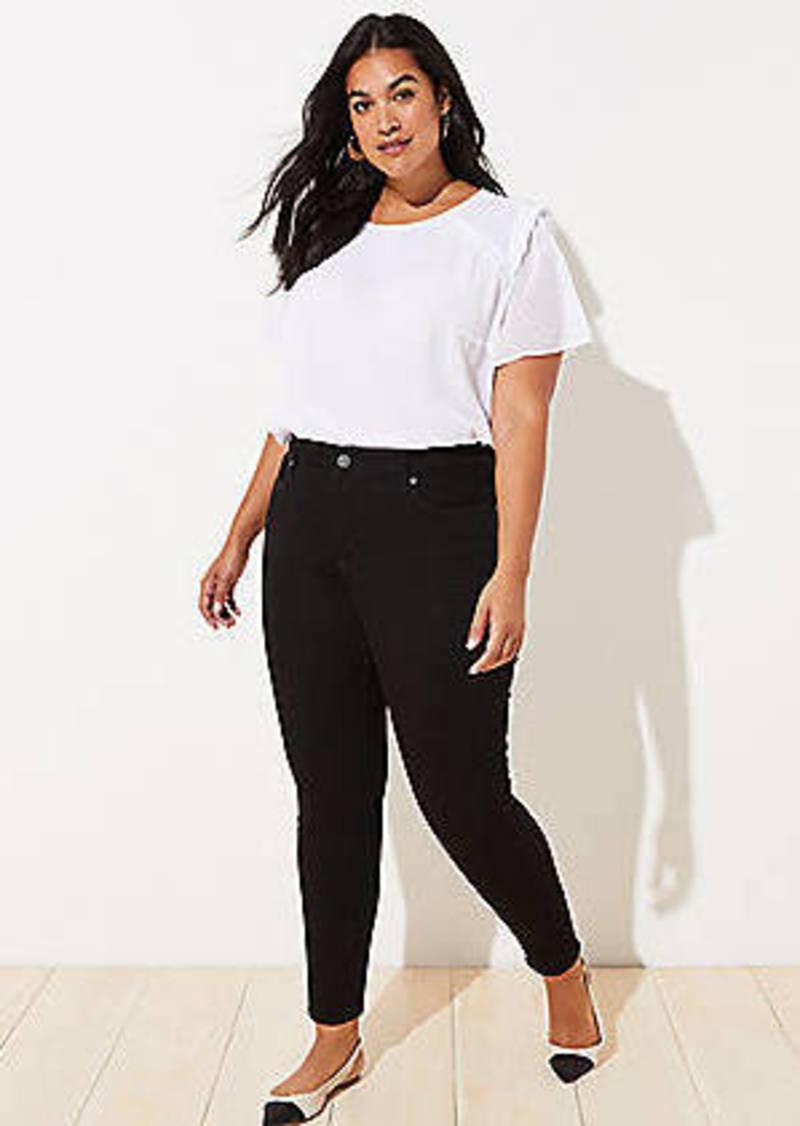Short LOFT Plus Modern Skinny Jeans in Black