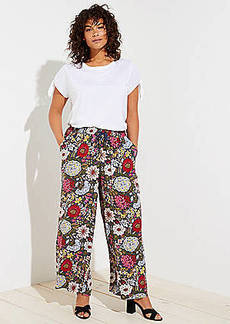LOFT Plus Hydrangea Garden Fluid Drawstring Pants