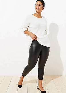 LOFT Plus Leggings in Faux Leather